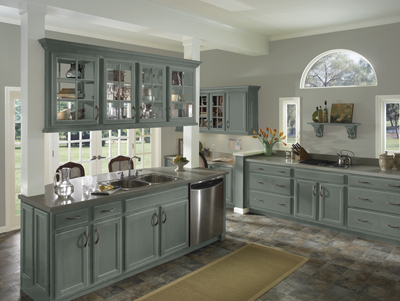 Kitchen Example Displaying The Armstrong Cabinet Style Caruth With The Slate  Finish