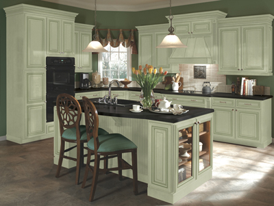Kitchen Example Displaying The Armstrong Cabinet Style Sedona With The Sage  Finish