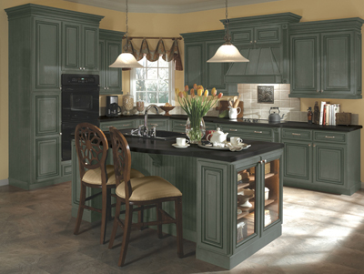 Beau Kitchen Example Displaying The Armstrong Cabinet Style Sedona With The Slate  Finish