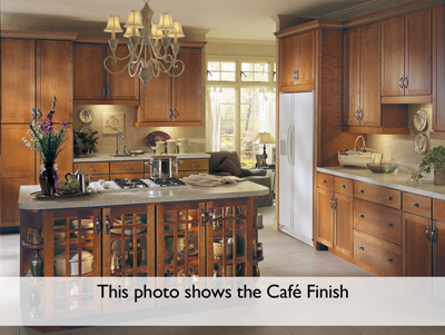 Beau Kitchen Example Displaying The Armstrong Cabinet Style Rutledge With The  Toffee Brown Glaze Finish