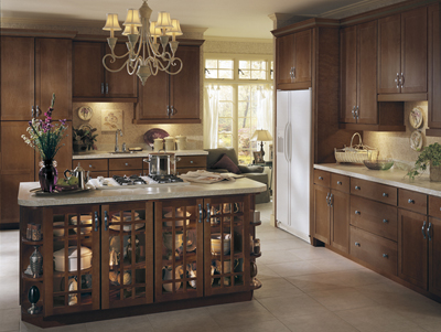 Kitchen Example Displaying The Armstrong Cabinet Style Rutledge With The  Autumn Brown Finish