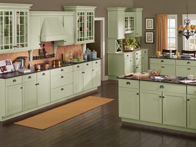 Kitchen Example Displaying The Armstrong Cabinet Style Rutledge With The  Sage Finish