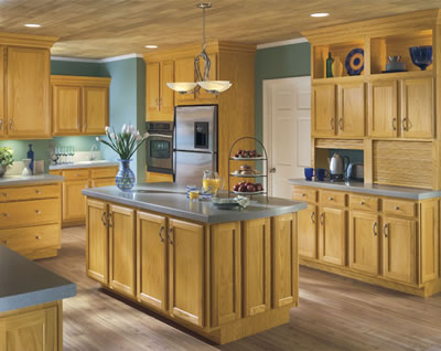 Kitchen Example Displaying The Armstrong Cabinet Style Branford With The Honey Finish