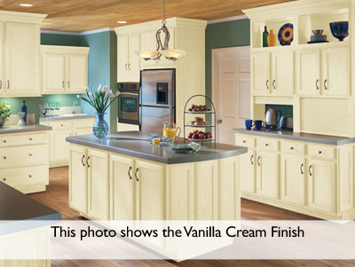 Lovely Kitchen Example Displaying The Armstrong Cabinet Style Branford With The  Vanilla Cream Taupe Glaze Finish