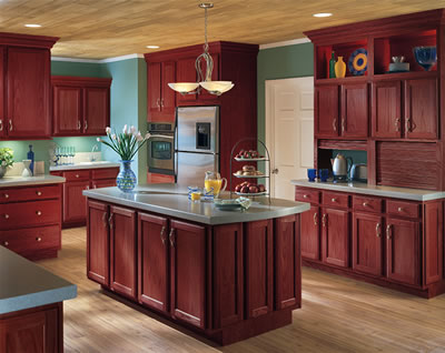 Kitchen Example Displaying The Armstrong Cabinet Style Branford With The  Bordeaux Finish