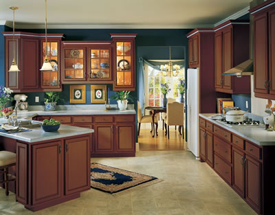 Kitchen Example Displaying The Armstrong Cabinet Style Siena With The Cafe  Brown Glaze Finish
