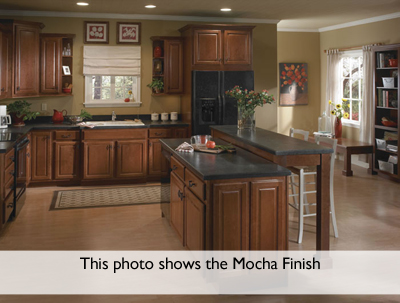 Kitchen Example Displaying The Armstrong Cabinet Style Cimarron With The  Mocha Brown Glaze Finish