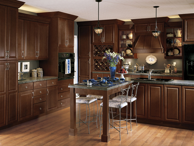 Kitchen Example Displaying The Armstrong Cabinet Style Tiara With The  Autumn Brown Finish