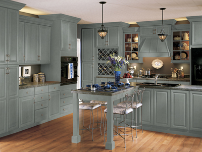 Gentil Kitchen Example Displaying The Armstrong Cabinet Style Tiara With The Slate  Finish