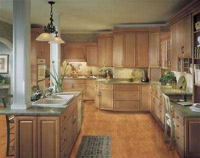 Kitchen Example Displaying The Armstrong Cabinet Style Waverly With The  Toffee Finish