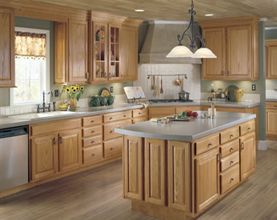 Kitchen Example Displaying The Armstrong Cabinet Style Hampton With The  Wheat Finish