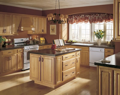 Kitchen Example Displaying The Armstrong Cabinet Style Coronet With The  Honey Finish