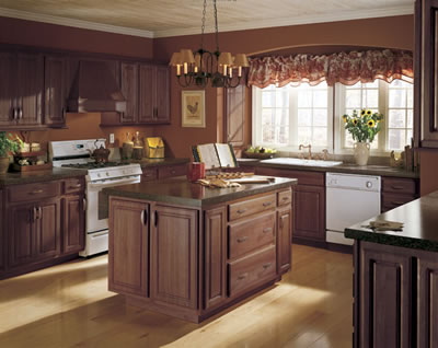 Kitchen Example Displaying The Armstrong Cabinet Style Coronet With The  Mocha Finish
