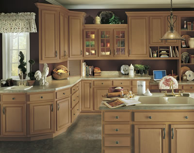 Kitchen Example Displaying The Armstrong Cabinet Style Tuscany With The  Toffee Caramel Glaze Finish