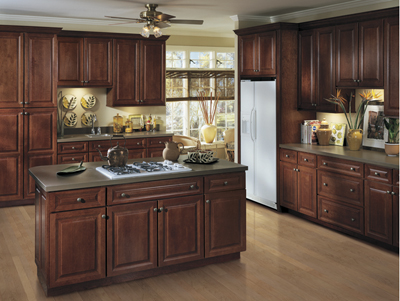 Amazing Kitchen Example Displaying The Armstrong Cabinet Style LaCerise With The  Autumn Brown Finish