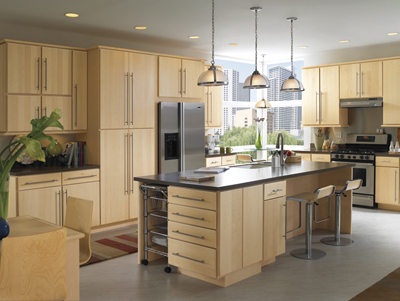 Kitchen Example Displaying The Armstrong Cabinet Style Calibra II With The  Natural Finish