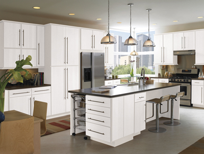 kitchen example displaying the armstrong cabinet style calibra ii with the alpine white finish jdssupply com  calibra ii by armstrong cabinets  rh   jdssupply com