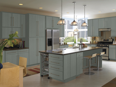 Genial Kitchen Example Displaying The Armstrong Cabinet Style Calibra II With The  Slate Finish