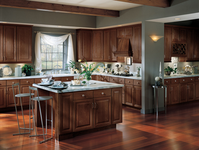 Kitchen Example Displaying The Armstrong Cabinet Style Olympus With The  Autumn Brown Finish