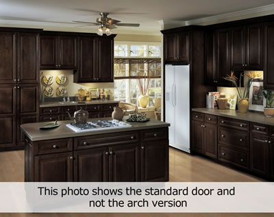 Exceptional Kitchen Example Displaying The Armstrong Cabinet Style Lacerise Arch With  The Espresso Finish
